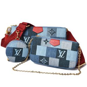 Louis Vuitton Accessory Pouch Coin Case Bag LOUIS VUITTON Multi Pochette Accessoir Denim Monogram M44990