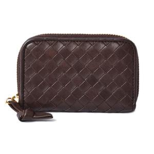 Bottega Veneta Card Case Coin BOTTEGA VENETA Intrecciato Calf Leather Brown 114075 Outlet