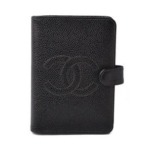 CHANEL System Notebook Cover Agenda PM Vintage Cocomark Caviar Skin Black