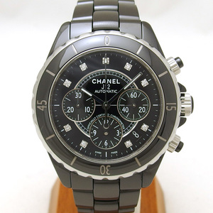 Chanel J12 Chronograph Black 9P Diamond 20180619