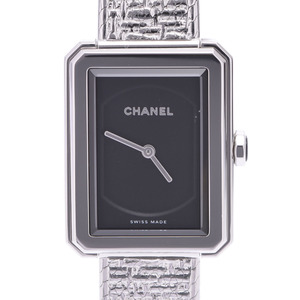 CHANEL Boyfriend Tweed H4876 Ladies Steel Watch Quartz Black Dial