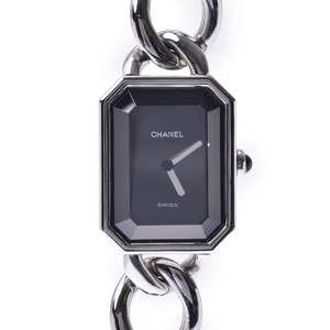 CHANEL Premiere Ladies Steel Watch Quartz Black Dial