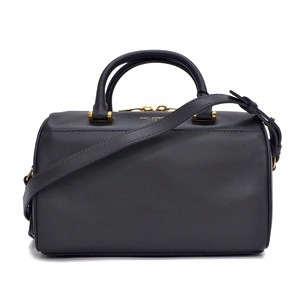 Saint-Laurent Paris SAINT LAURENT duffel bag baby mini Boston storm gray ladies