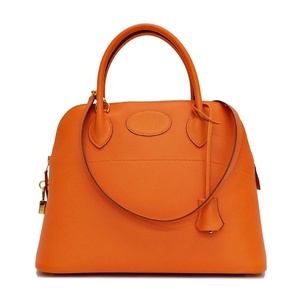 Hermes HERMES Bored 31 Vaud Swift Orange Ladies Handbag Hardware: Gold □ F Engraved