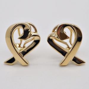Tiffany TIFFANY & Co. Paloma Picasso Loving Heart Earrings Yellow Gold Ladies K18YG