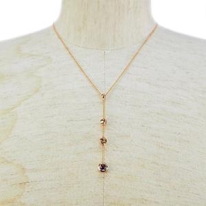 Celine CELINE Quartz Necklace K18 Pink Gold Pendant Ladies K18PG Triple Ball