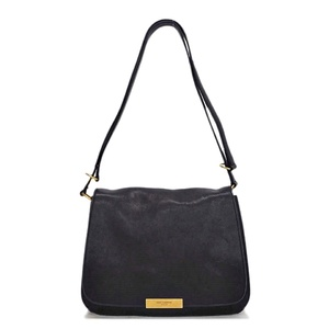 Saint Laurent Paris SAINT LAURENT Leather Shoulder Bag Black Ladies Postman Messenger