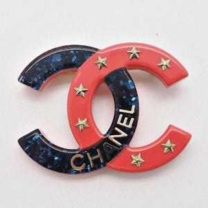 Chanel CHANEL Coco Star Brooch Plastic Ladies Pin Stall