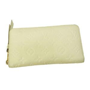 Louis Vuitton LOUIS VUITTON Portofeuil Scullet Ron Round Zipper Long Wallet Neige White M93437 Monogram Anplant Ladies