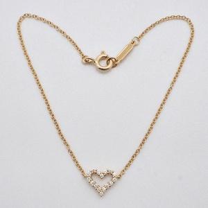 Tiffany TIFFANY & Co. Heart Diamond Bracelet Pink Gold x Ladies 16cm