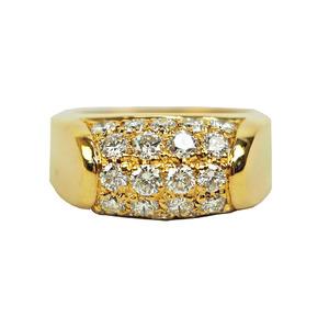 Bvlgari BVLGARI Troncket Ring Diamond Yellow Gold Ladies 11 K18YG Pave