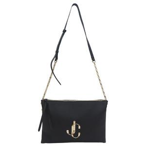 Jimmy Choo Varennes Shoulder S Black Calf Leather Bag Ladies
