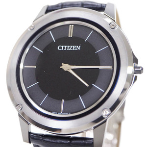 Citizen CITIZEN Eco-Drive One Watch Black AR5024-01E Stainless Steel & Crocodile Leather Belt Men's Solar Charging