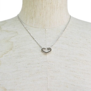 Cartier C Heart Necklace B7008100 White Gold K18WG Ladies 41.5cm of