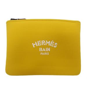 Hermes HERMES Neovan Jaguar PM Flat Pouch Soleil Yellow Ladies Gadget Case