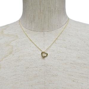 Tiffany TIFFANY & Co. Elsa Peretti Open Heart Pendant Necklace Yellow Gold Ladies K18YG