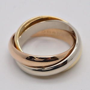 Cartier Trinity Ring # 53 Three Gold Classic Triple No. 12 Ladies