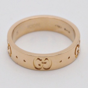 Gucci GUCCI GG icon ring K18 pink gold 073229 09850 9000 Ring 5th place K18PG Ladies