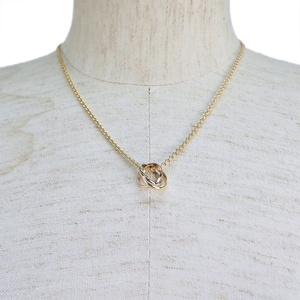 Cartier Trinity Necklace B7224574 Gold 3 Color Ladies Baby Three 42cm