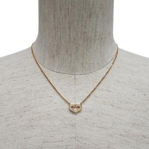 Cartier C Heart of Necklace Yellow Gold 17P Diamond Ladies 18K