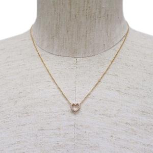 Tiffany & Co. Metro Heart Pendant Necklace Pink Gold x Diamond Ladies