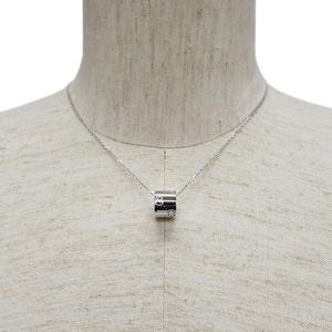 GUCCI Icon Pendant White Gold Men's 100885 Necklace K18WG Unisex