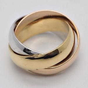 Cartier Trinity Ring LM # 48 Three Gold Width 5.3 mm Triple No. 8 Ladies