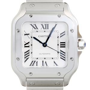 CARTIER Santos de Cartier MM Stainless Steel Unisex Watch WSSA0010