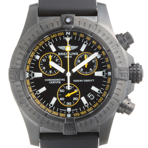 Breitling Avenger Seawolf Chronograph Limited to 1000 Men's Watch M73390T1 BA87 Stainless Steel Black Dial DH56488