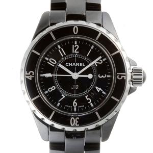 CHANEL J12 33mm Ladies Watch H0682 Ceramic Black Arabian Dial