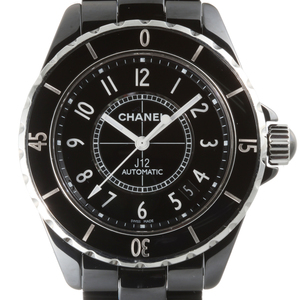 CHANEL J12 38mm Mens Watch H0685 Ceramic Black Arabian Dial