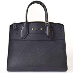 Louis Vuitton LV Logo City Steamer PM Black Shoulder Bag Leather