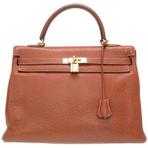 Hermes Kelly 35 In-sewn Buffel Etrusque handbag Gold hardware