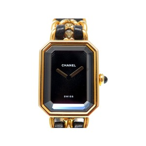 CHANEL Premiere H0001 Size M Gold Plated Leather Ladies Quartz Watch