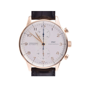 IWC Portugieser Chrono IW371480 Mens Rose Gold Watch Watch Silver dial