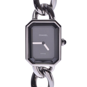 CHANEL Premiere Size L Ladies Steel Watch Quartz Black Dial