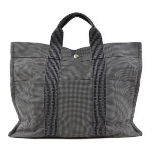 Hermes Yell Line Tote MM Canvas Tote Bag Gray