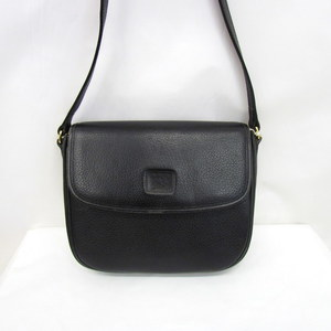 BURBERRYS Burberry Shoulder Bag Horse Mark Black Leather Sling Crossbody Ladies 409466 RYB5785