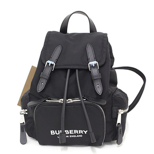 Burberry Small Nylon Rucksack Black Calf Leather Backpack 80171631 LONDON ENGLAND