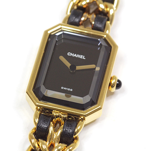 CHANEL Premiere Size L Gold Plated Quartz Ladies Watch H0001