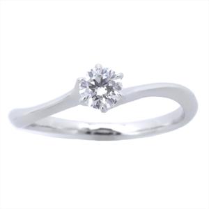 スター・ジュエリー(Star Jewelry) Stream Setting Pt950(プラチナ) 婚約&結婚式用 ダイヤモンド エンゲージリング カラット/0.161