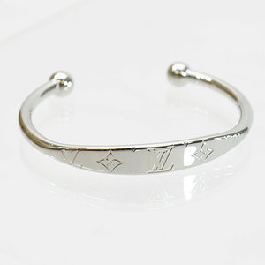 Louis Vuitton Bangle Monogram Jong Silver Bracelet Mens M64839 51005
