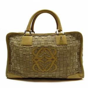 LOEWE Handbag Boston Bag Anagram Beige Gold Leather Ladies 51177