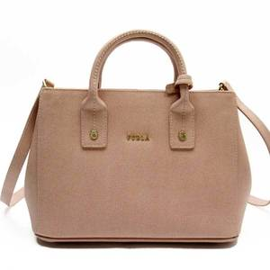 Furla FURLA Handbag Pink Gold Leather Ladies 51817a