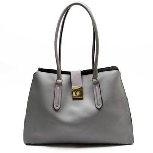 Furla FURLA Shoulder Bag Gray Gold Leather Ladies 51806a