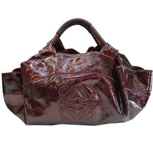 LOEWE Handbag Bordeaux Patent Leather Ladies 51558