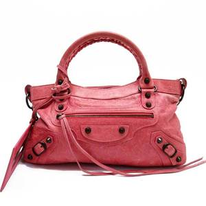 Balenciaga BALENCIAGA Handbag Shoulder Bag The City Pink Leather 51770d