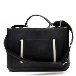 Furla FURLA Handbag Shoulder Bag Black White Leather Ladies 51446