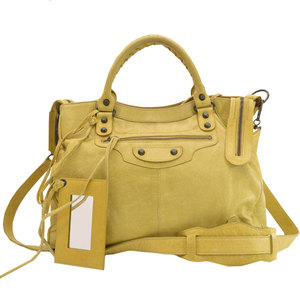 Balenciaga BALENCIAGA Bag Classic City Camel Metallic Leather Handbag Shoulder Ladies 51563