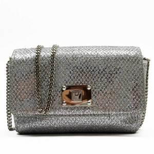 Jimmy Choo JIMMY CHOO pochette silver leather lame 51785b